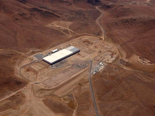 What Gigafactory-1 -- Tesla's battery plant outside Reno -- looks like now. When completed it will cover 15 million square feet which will make it the building with the largest footprint in the world. Credit: Tesla.