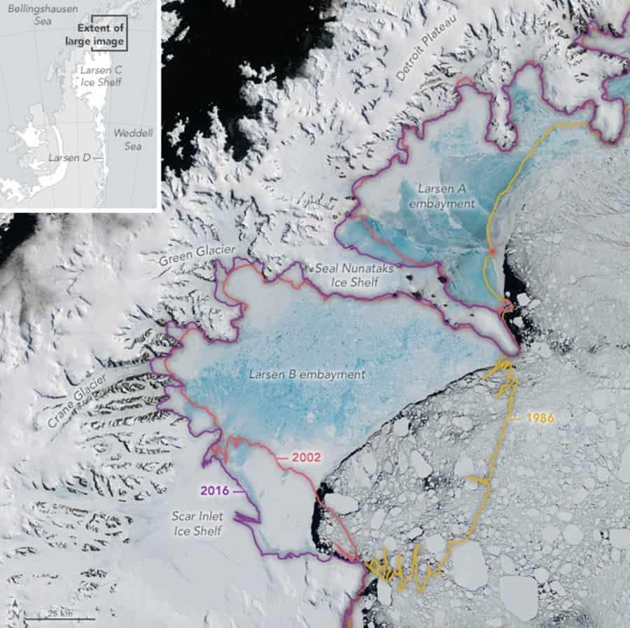 larson ice shelf retreat