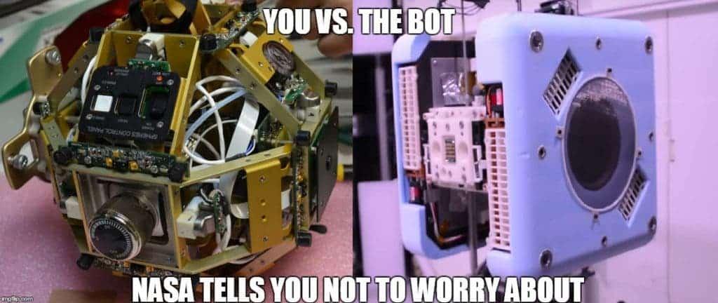 Astrobee vs Spheres.