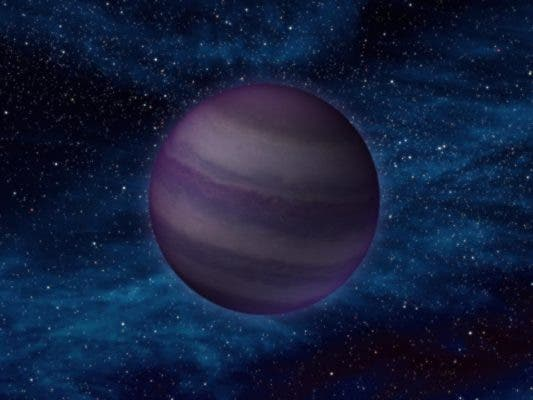Artist's representation of what a Y-class brown dwarf might look like.