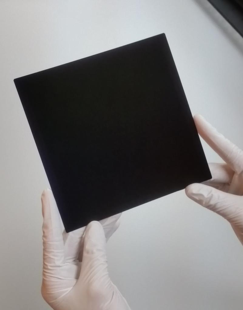 Silicon solar cell with 26.3% efficiency. Credit: Kaneka Corporation.