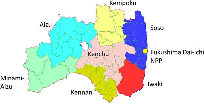The Fukushima prefecture has a surface area of 13,782.76 km2. Almost two million people live here.