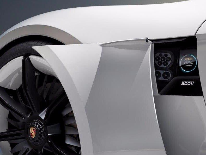The Model E's charging port. Credit: Porsche.