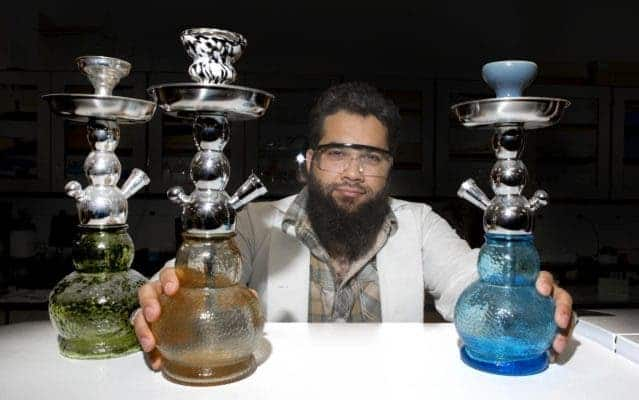 Ryan Saadawi is one of the few researchers in the world to study the health effects of smoking tobacco from hookah pipes. Credit: Joseph Fuqua II/UC Creative Services.