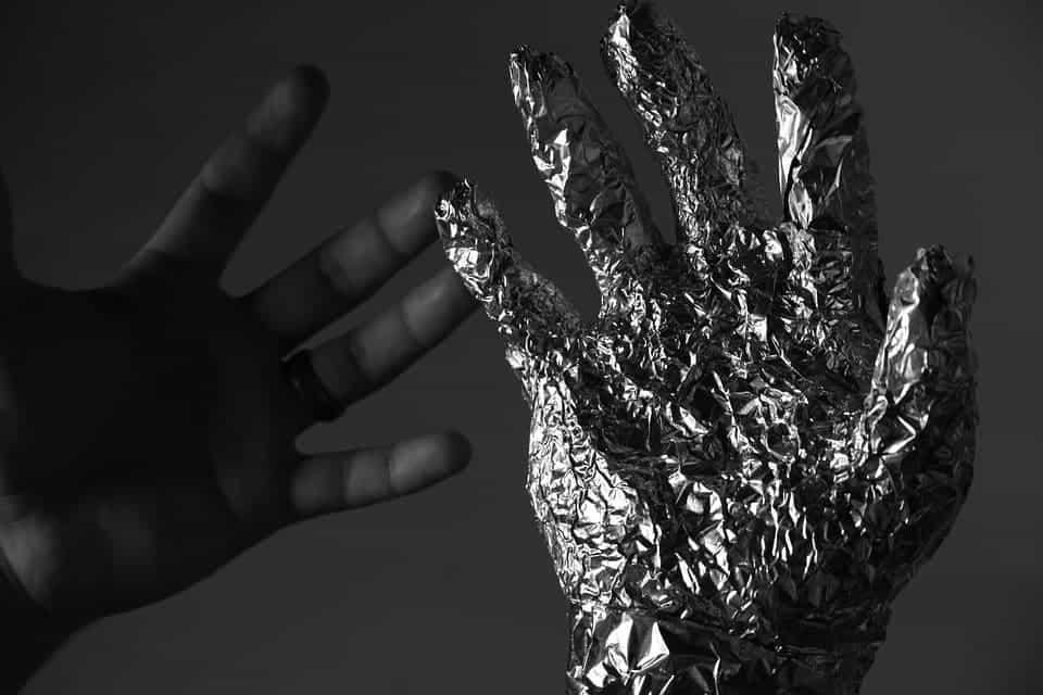 Human and robot hand.
