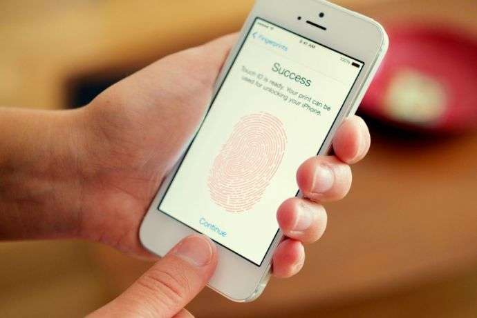 fingerprint authentication.
