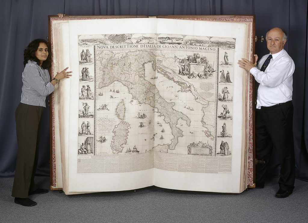 Atlas on display.