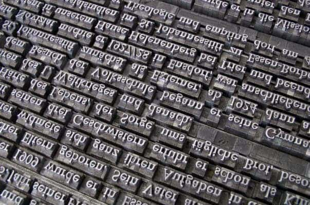 Typing fonts.