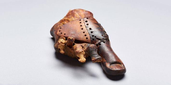 Ancient egyptian prosthetic thumb recovered from Theban tomb TT95. Credit: Matjaž Kačičnik.