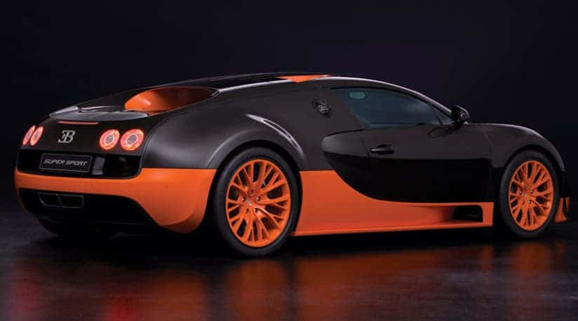 The Bugatti Veyron Supersport.