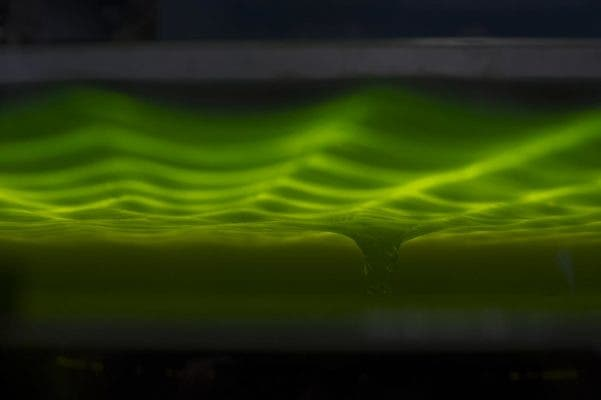 Analogue black hole machine. Image: University of Nottingham.