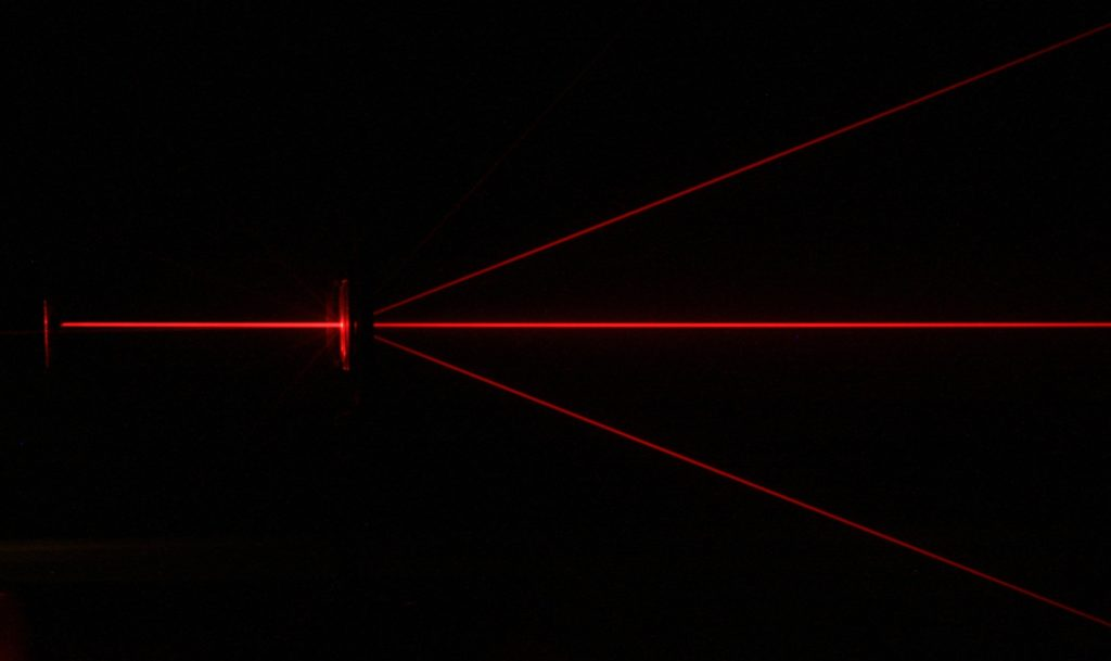 Red Laser Diffraction.