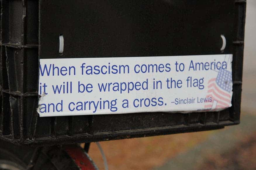 Fascism America Sticker.