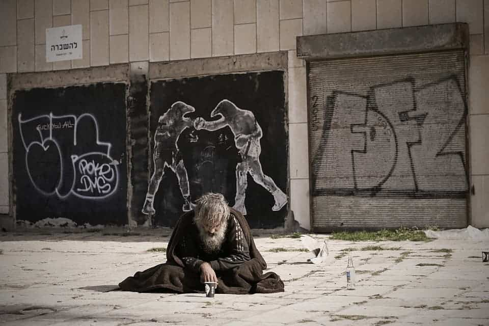 Homeless man.