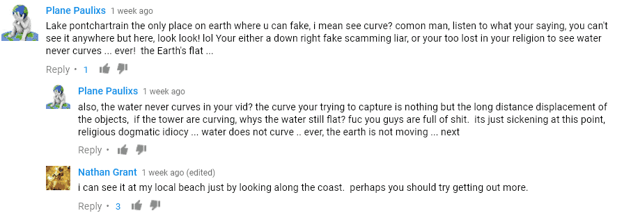 Flat Earth coment