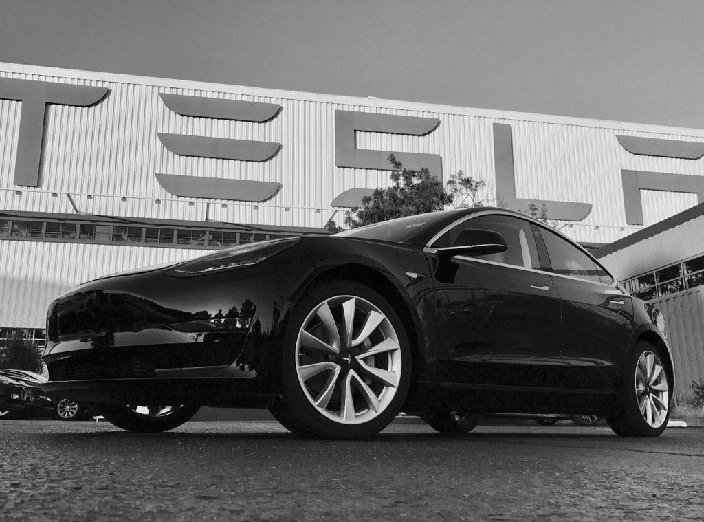Tesla Motors Model 3 production unit. Credit: Tesla Motors