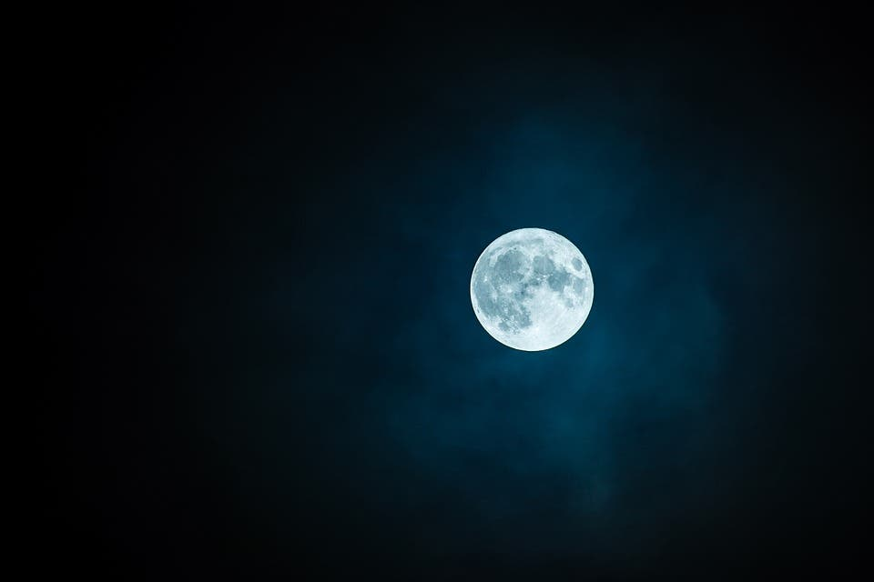 The moon contains far more water than previously thought according to a new study which found its interior is wet. Credit: Pixabay.