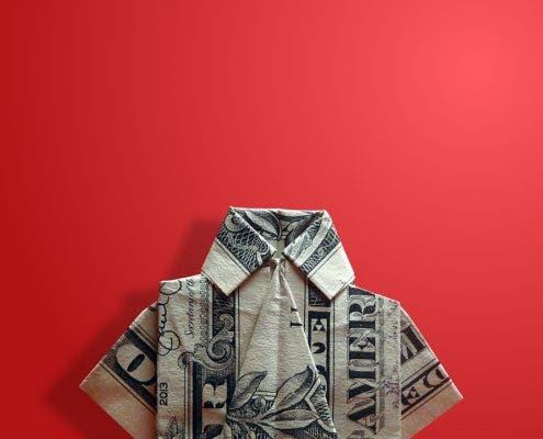 Origami dollar.