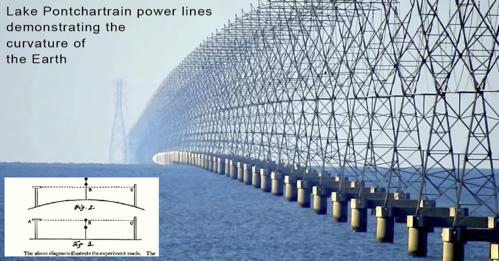 power lines prove curvature of earth