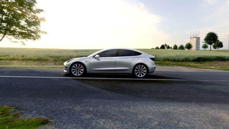 Tesla Siver Model 3