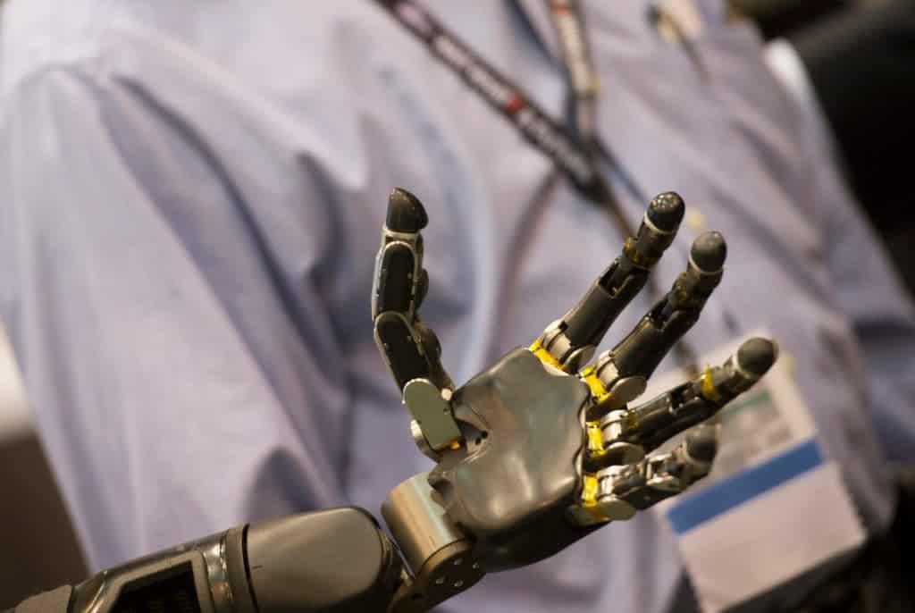 Robot hand.