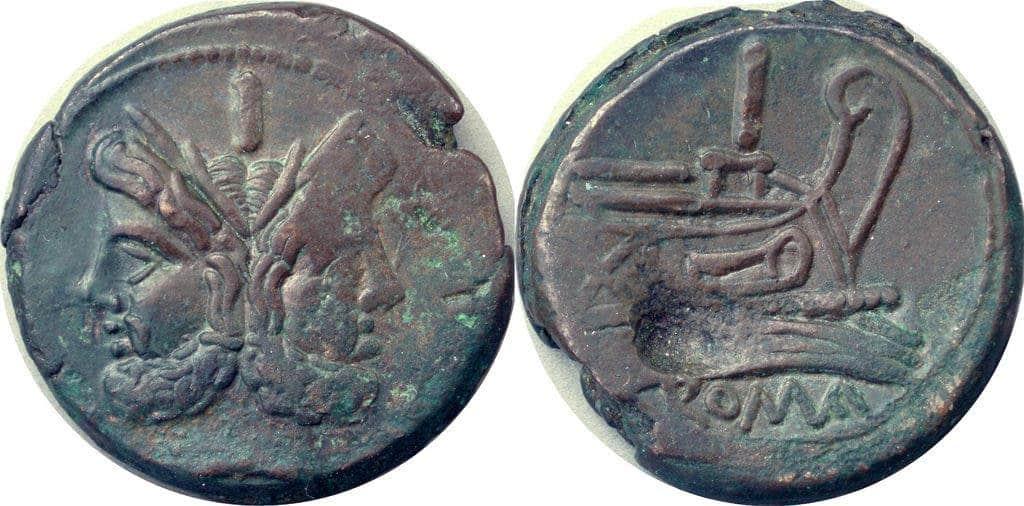 Roman Republican Coins, Second Punic War, The Denarius 214-195BC. Credit: Andrew McCabe.