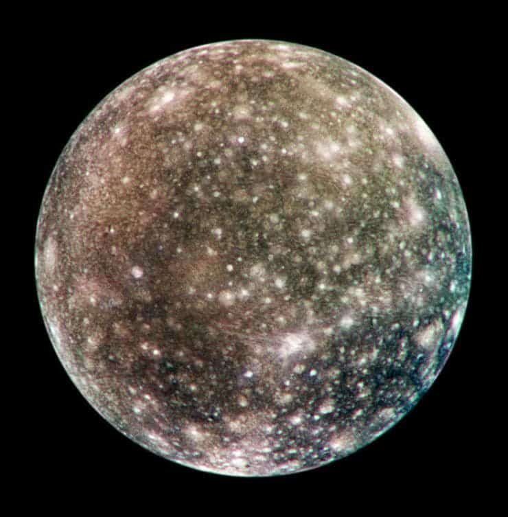 The crater-riddled Callisto. Credit: Wikimedia Commons.