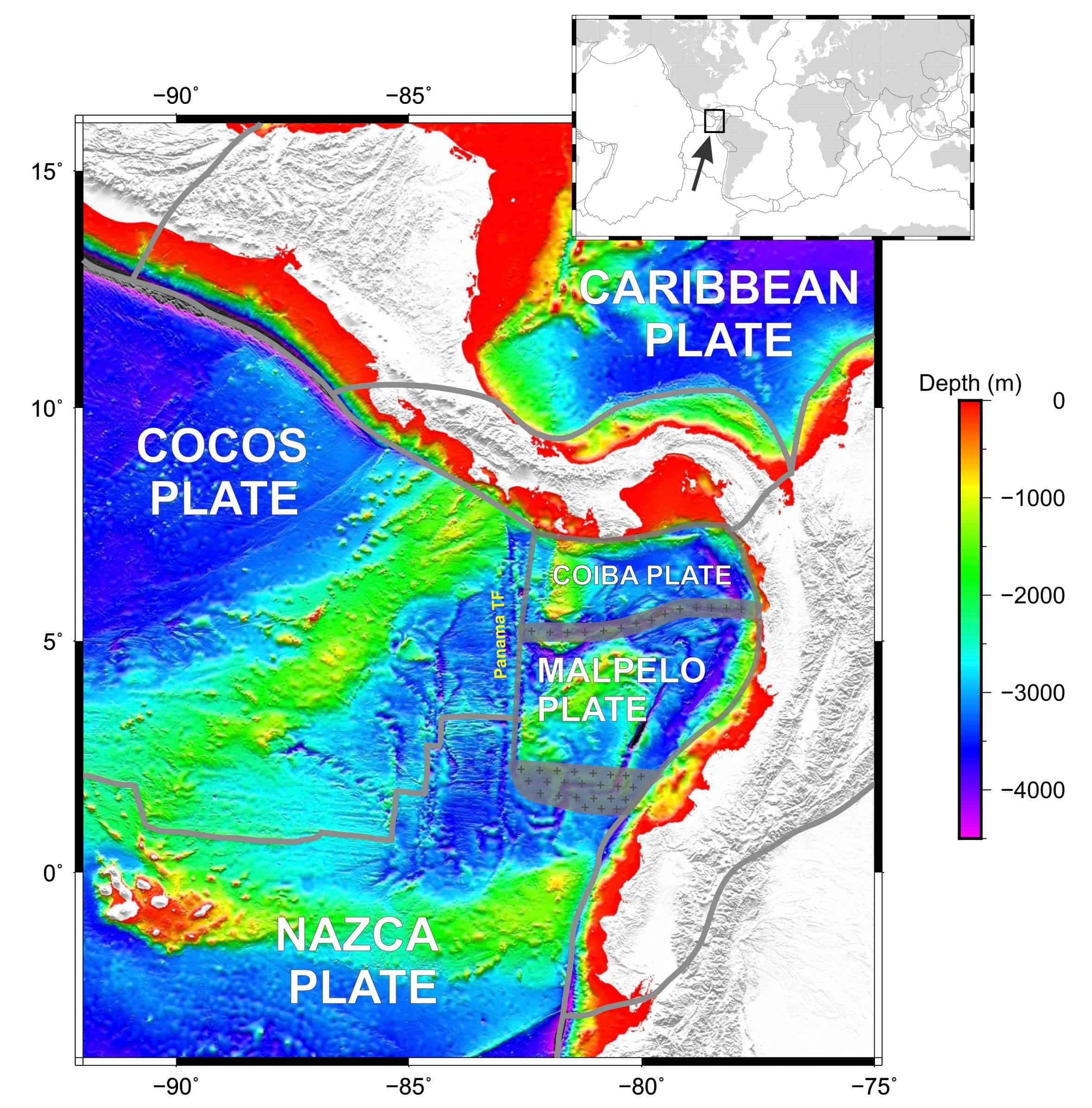 New Tectonic Plate Discovered Off The Cost Of Ecuador - Tectonic map us