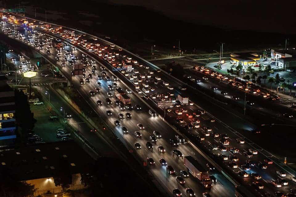 traffic jam in big cities