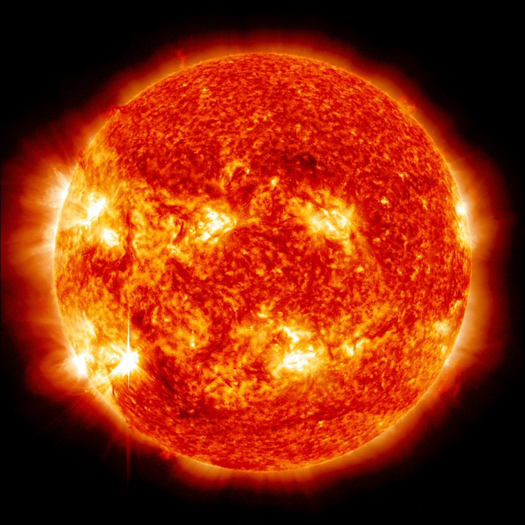 Nuclear fusion is what powers the sun's core. Credit: NASA.