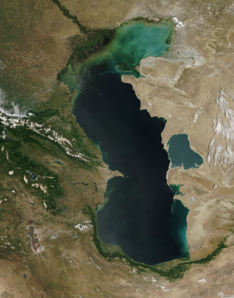 Caspian Sea from orbit.