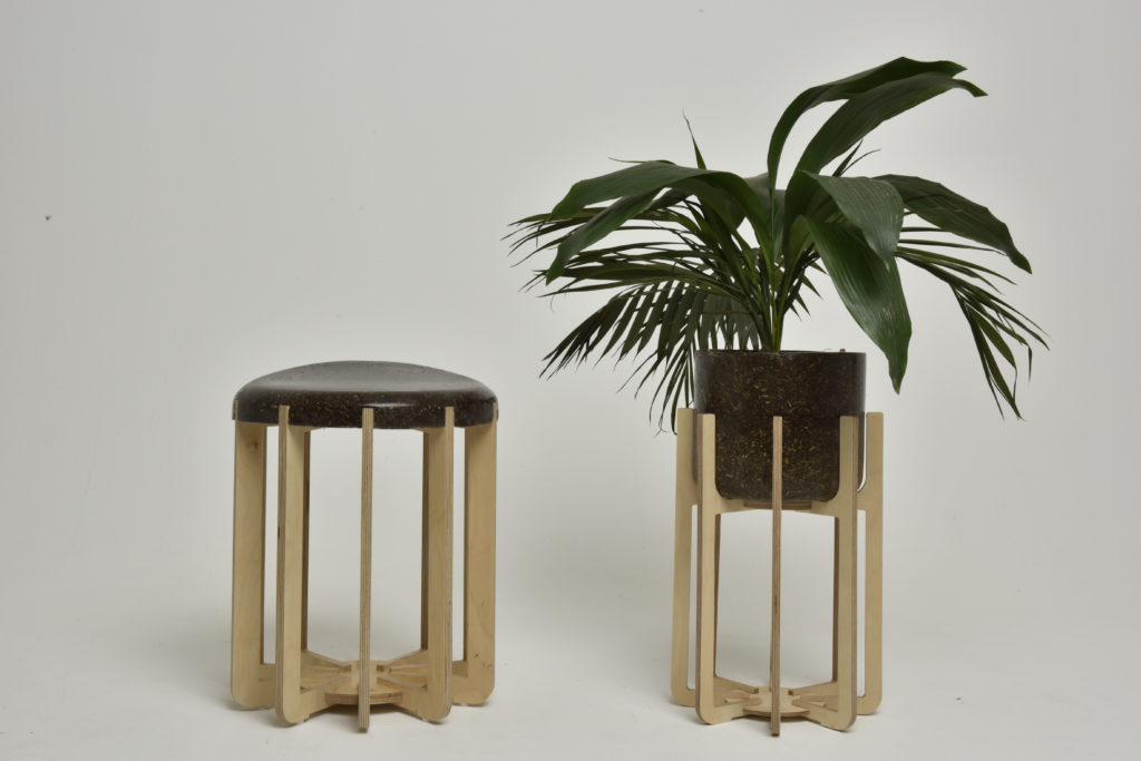 Stool and Pot.