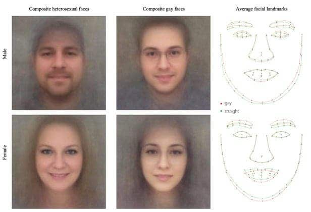 Gay facial features AI