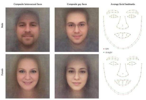 Gay facial features AI