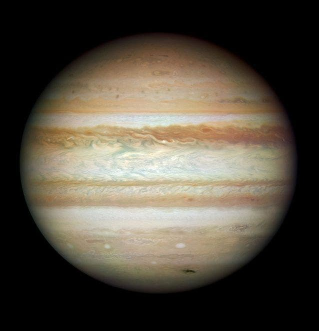 Amazing real-life photo of Jupiter captured by Cassini in 2000. Credit: NASA.