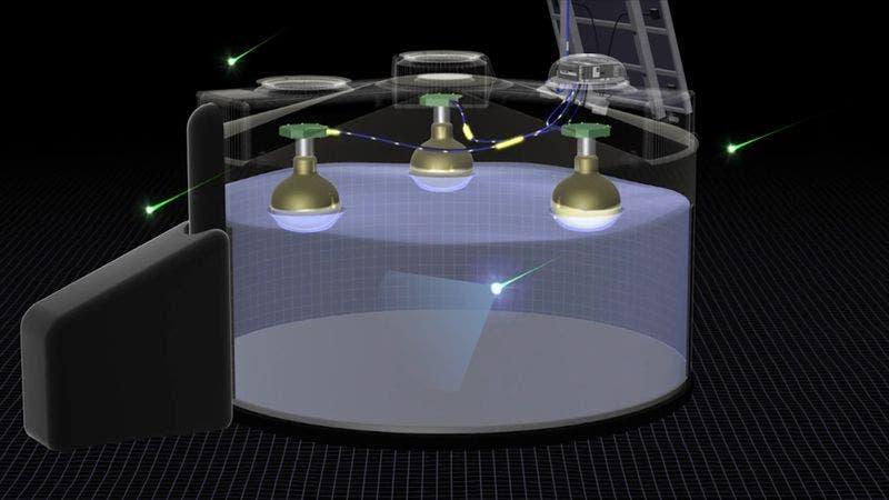 Schematic of water-Cherenkov detector. Credit: Pierre Auger Observatory.
