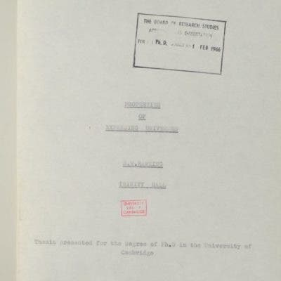 Hawking's PhD first page.