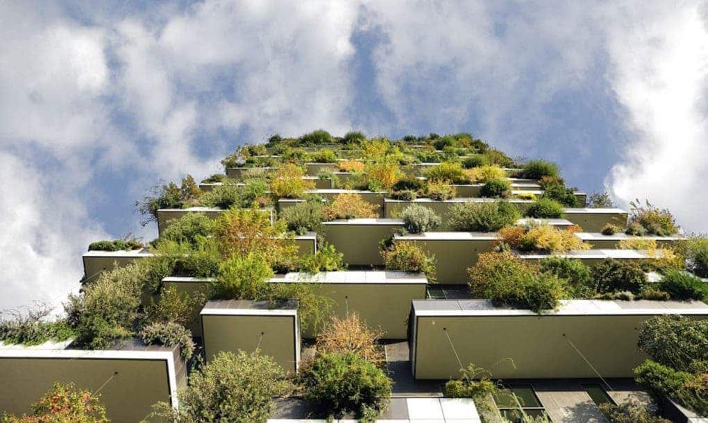 A completed vertical forest in Milan, Italy. Credit: Stefano Boeri Architects.