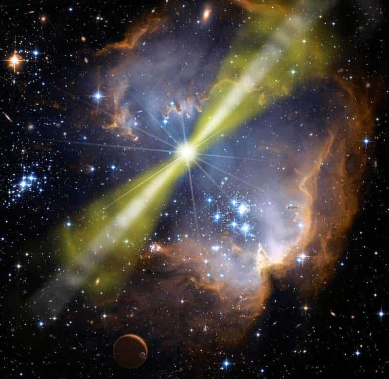 GRB080319B gamma burst.