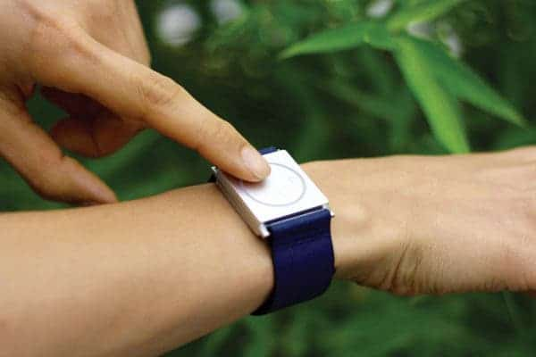 """Empatica's wristband, called Embrace (pictured here), is """"a consumer-looking, but medical-quality device"""" for monitoring stress and seizures. Credit: Empatica."""