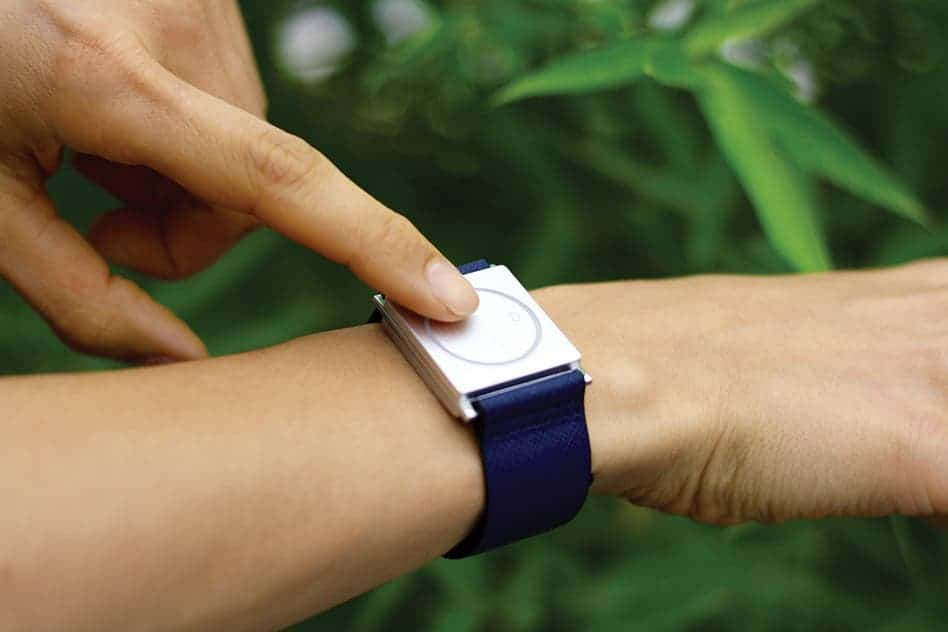 "Empatica's wristband, called Embrace (pictured here), is ""a consumer-looking, but medical-quality device"" for monitoring stress and seizures. Credit: Empatica."