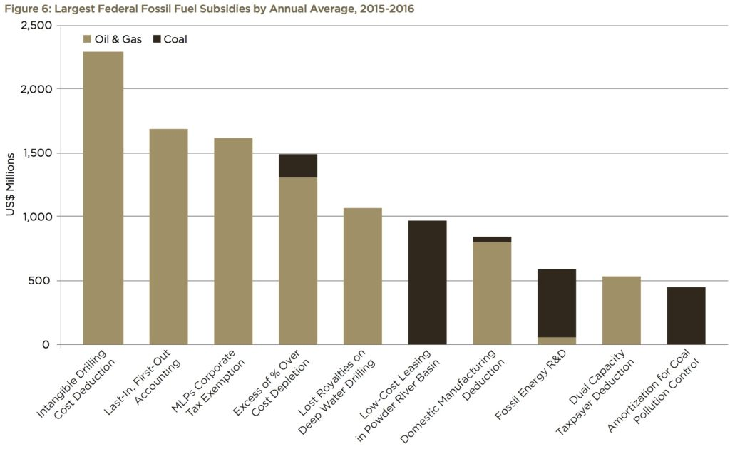 Fuel subsidies categories.