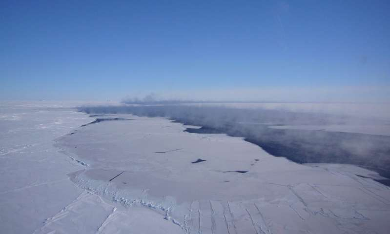 Aerial view of the Weddell polynya. Credit: Jan Lieser.