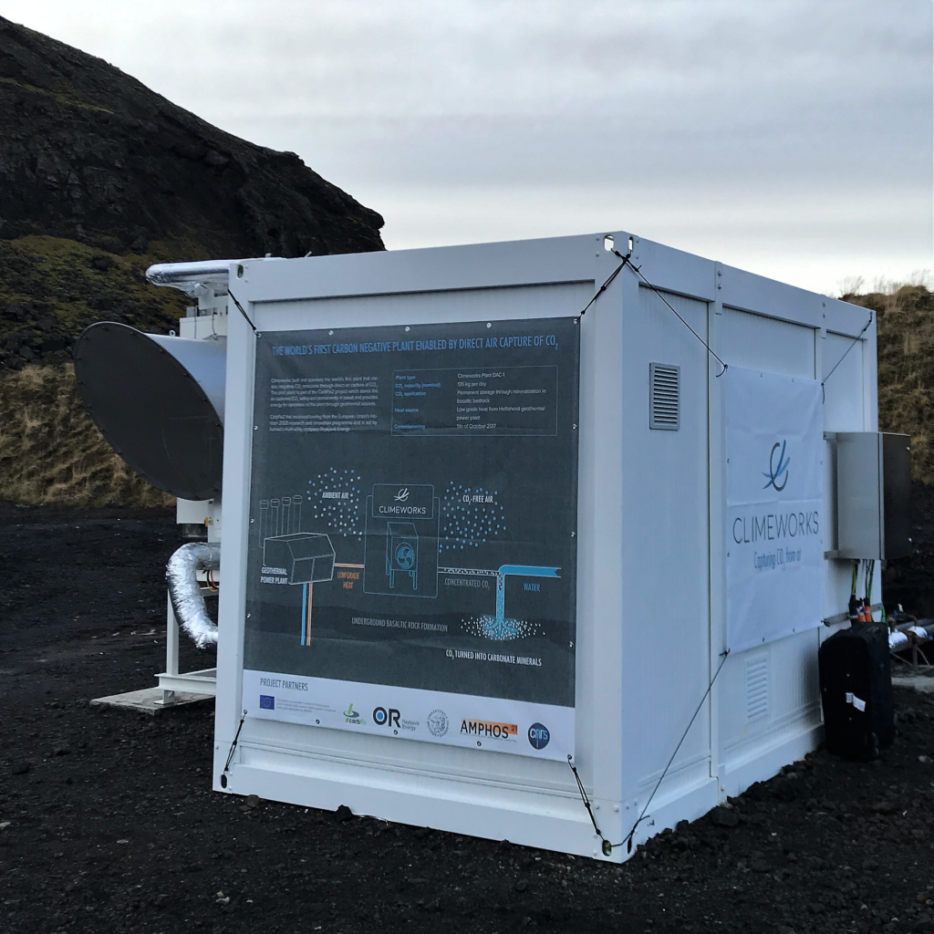 The DAC module installed in Iceland. Credit: Climeworks.