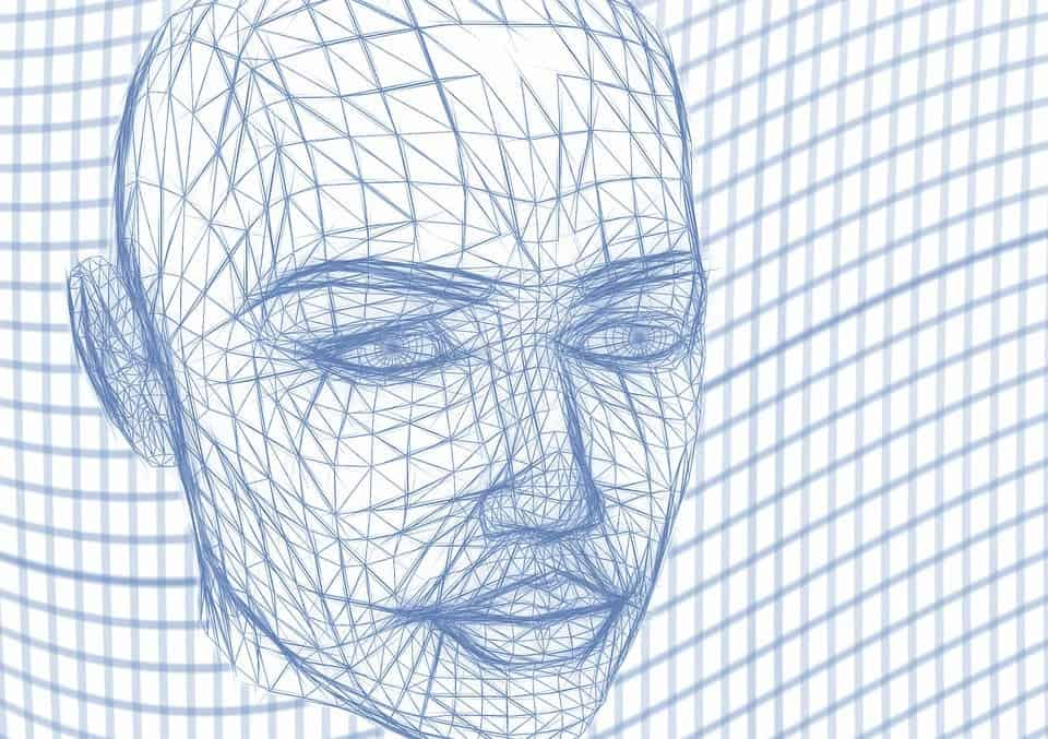 Wire mesh face.