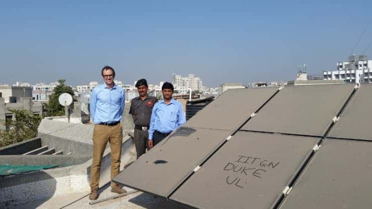 Dust solar panel.