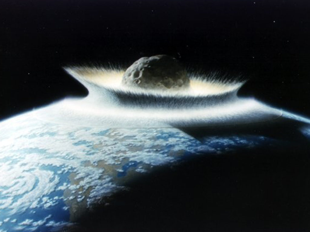 asteroid impact.