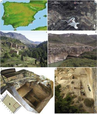 Excavation sites.