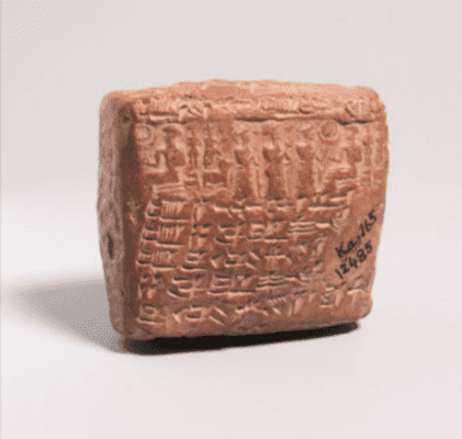 Clay contract tablet.