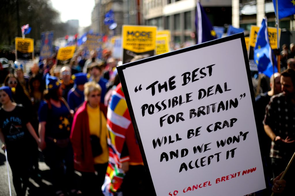 Pro-EU London protest.